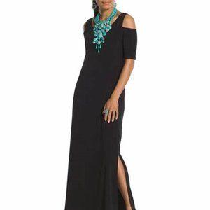 Chicos Cold Shoulder Maxi Dress - Black